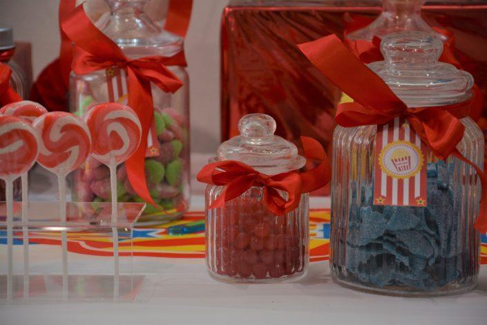Candy Bar Circus / fête foraine pour Dulux Valentine - bonbonnières et sucettes