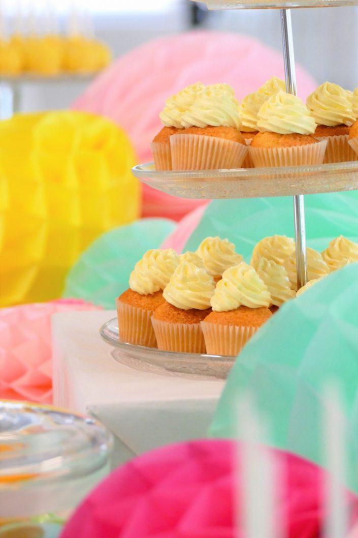 Bar à pâtisseries par Studio Candy pour L'Oréal - cupcakes coeur Nutella et crème vanille