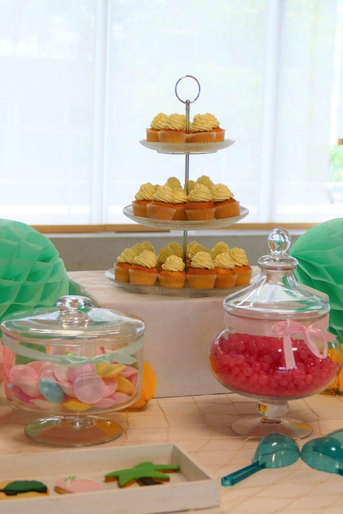 Bar à pâtisseries par Studio Candy pour L'Oréal - cupcake coeur nutella et crème vanille
