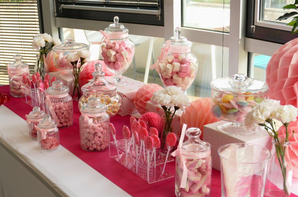 Candy Bar en rose et blanc pour Regus