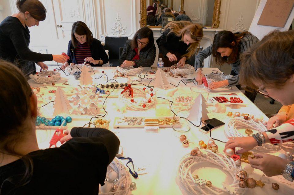 Ateliers créatifs de Noël chez Estée Lauder