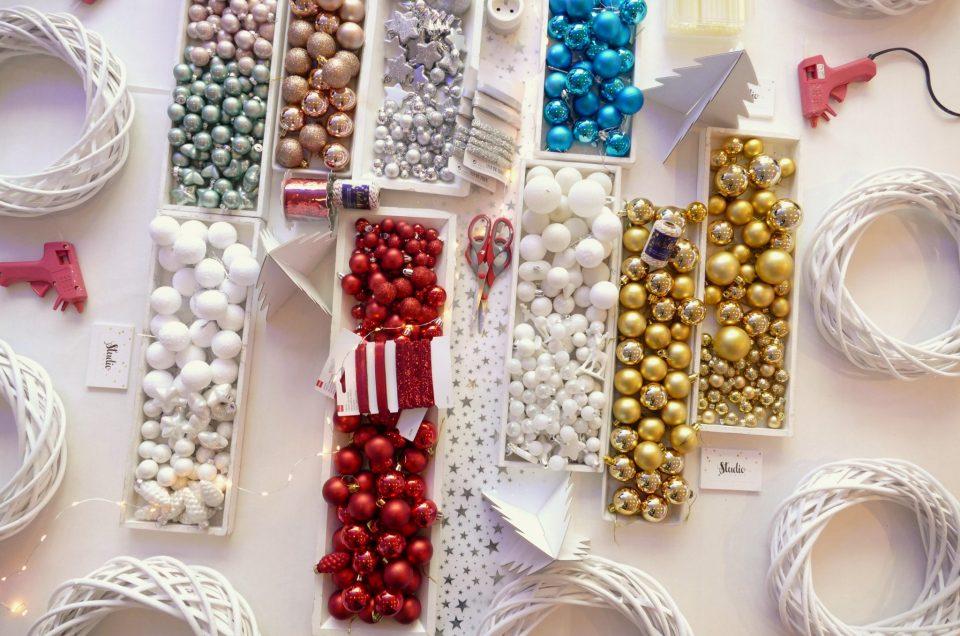 Atelier créatif Couronnes de Noël chez L'Oréal