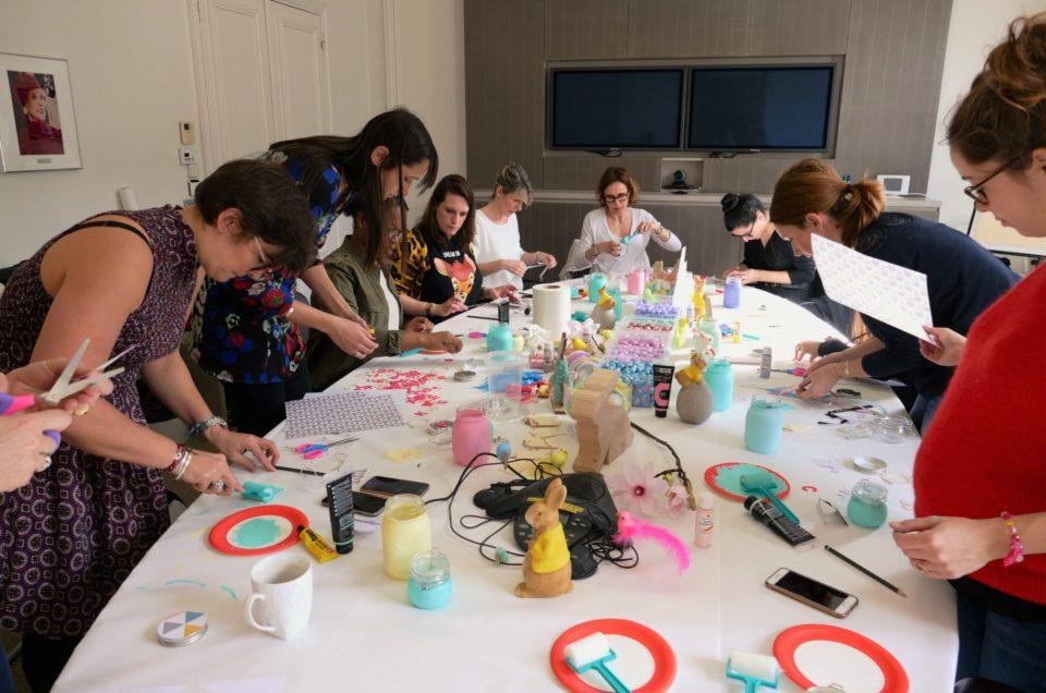 Atelier créatif DIY de Pâques chez Estée Lauder