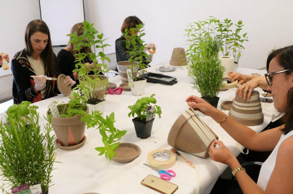 Atelier créatif végétal chez Estée Lauder