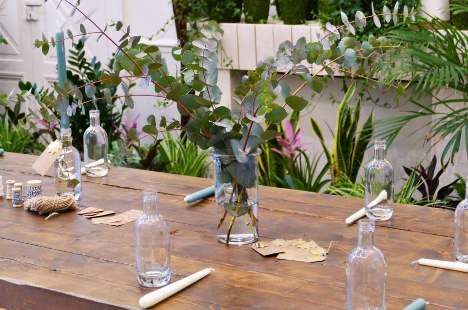 Atelier créatif bougeoir végétal pour Uriage