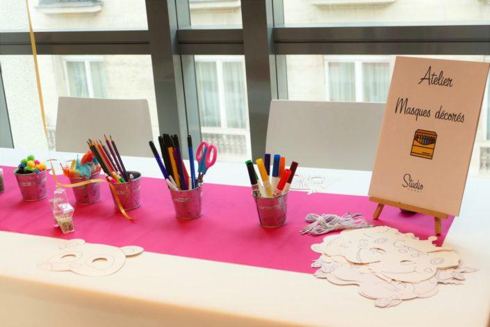 Family Day chez Idinvest par Studio Candy - atelier masques décorés