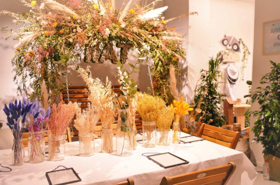 Atelier herbier de fleurs séchées et petit déjeuner nature pour Nestlé