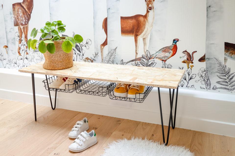 Tuto DIY Fabrication d'un banc à chaussures