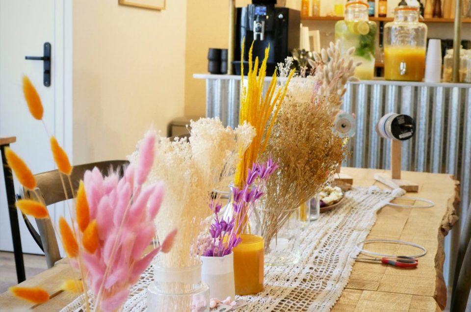 Atelier créatif de fleurs séchées