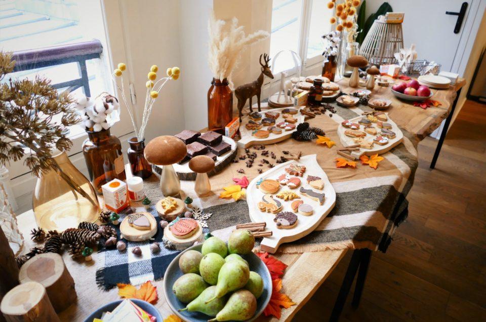 Table d'automne pour Biogaia et les influenceuses
