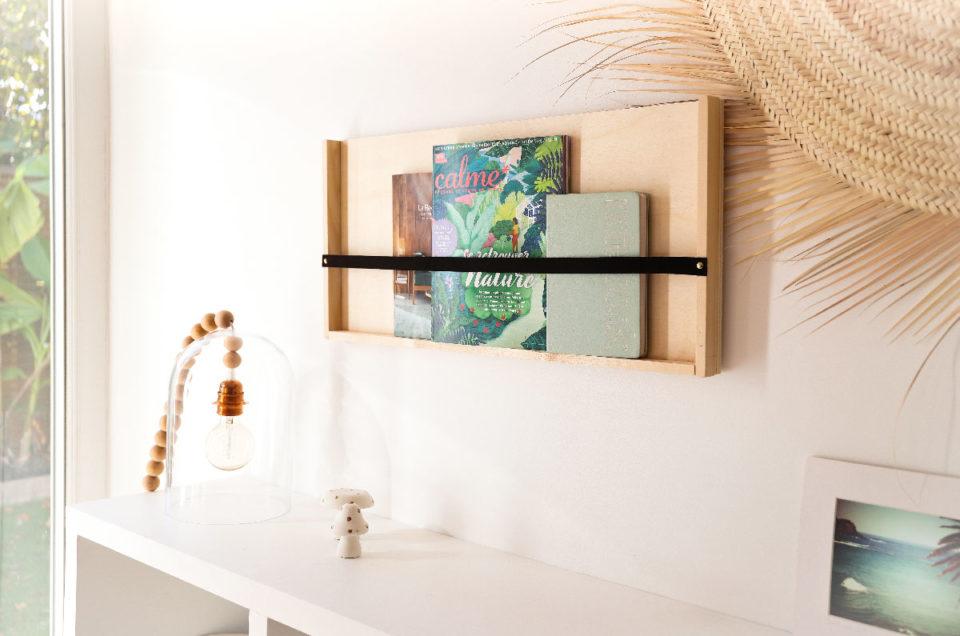 DIY créer son étagère pour magazines
