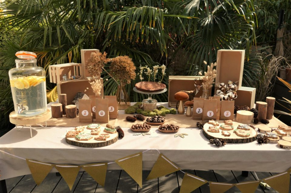 Table de goûter thème forêt