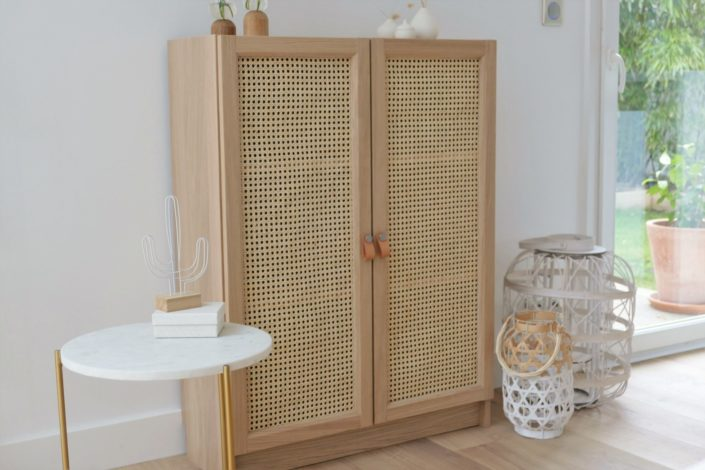 DIY - Comment relooker une petite armoire avec du cannage