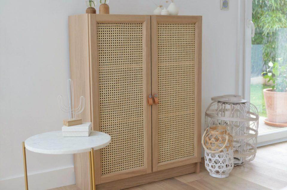 DIY – Comment relooker une petite armoire avec du cannage